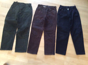 Pantalons en suède