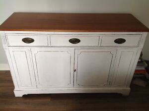 White Sideboard - Used as a dresser