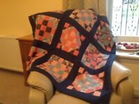 Knee quilt and matching cushions