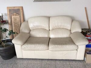 LEATHER COUCH: SIDES AND BACK