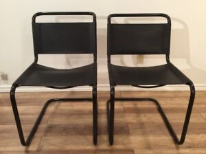 2x Mart Stam Style Vintage Chairs - Chaises Style Mart Stam