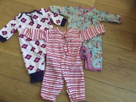 0-3 month old girls babygrows baby clothes