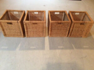 4 IKEA Natural Colour Woven Baskets