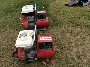 Two Honda generators ,1000watt and 1500watt