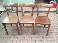 3 Fischel Bentwood Kitchen Chairs