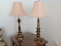 Pair of Brass Table Lamps - High Quality