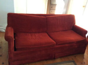 Loveseat sofa bed - free - if you see this ad, it's available