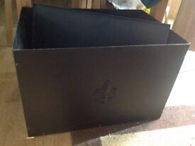 Metal wood box