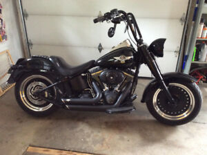 Harley Davidson Fatboy Lo Blacked out. Lots of extras