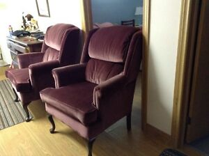 2. High-back-living room-foyer Chairs.