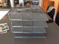 Ikea Metal Letter trays x 4