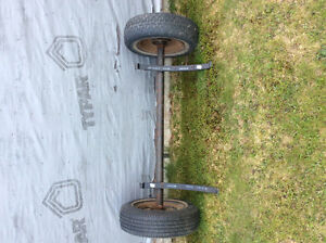 Axle and tires to make trailer