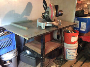 Delta 10' chop saw and table