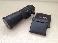 Sigma 170-500mm f5-6.3 APO lens cannon fit with DG filter