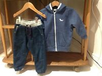 18-24 mths cuff bottom jeans & hooded jacket