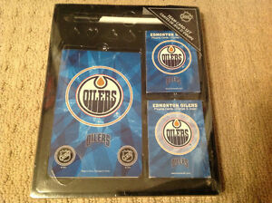 Edmonton Oilers Pen / Notepad / Two Deck of Cards - BRAND NEW!!!