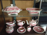 Red Tower Spode Dishes