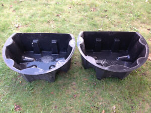 "1 Hard PVC flower pot or fish ponds, ext. - 27"" W x 20"" x 11"" H"