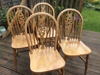 Wheelback dining chairs