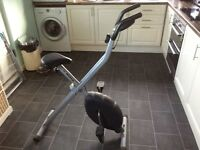 excercise bike , First £20 Folds up keep fit exercise