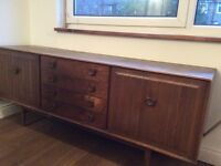 Wide brown cupboard on legs for Sale