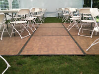 Dance Floor and Tables & Chairs and Tents for Rent