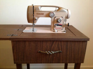 Special 1964 White sewing machine with original table
