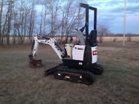 Bobcat 418 mini-hoe with only 154 hours - Reduced!!!