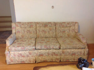Cream and Paisley Couch