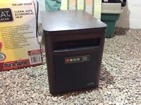 Duraflame Infrared Quartz Heater Solid Walnut Cabinet AS NEW!