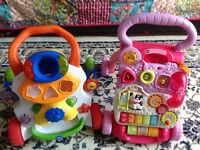 Vtech and Chicco baby walkers