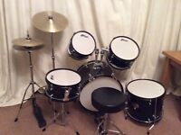 Tiger 6 Piece Junior Drum Kit + Drum Sticks + Beginner's Books + Case
