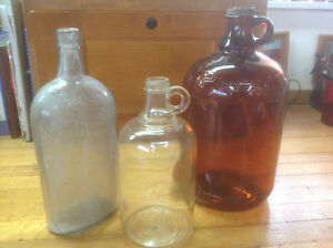 3 Glass Jugs ready for the shelf - LAST ONES