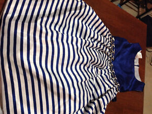 Girls blue and white size 6 dress