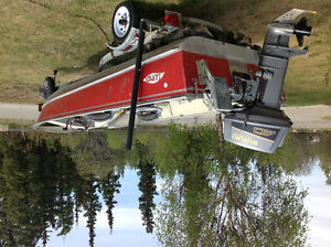 Lund boat, motor and trailer for sale