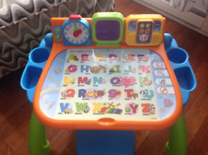 Vtech Touch and Learn Activity Table with stool