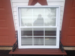 39 by 38inch double hung vinyl window