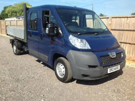 2013 63 PEUGEOT BOXER DOUBLE CAB 7 SEATS LWB DROPSIDE 1 OWNER CHOICE OF 2