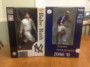 12 inch Exclusive Sport Figures Babe Ruth and Zidane