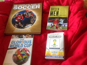 Soccer books and player cards