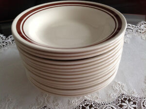 Set of 15 dining dishes  100./. Ex co  ,each $1.50