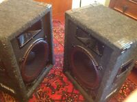 Pair of stage line speakers 500w