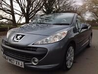 Peugeot 207 CC 1.6 HDi FAP GT 2dr FM07XVJ 1 LADY OWNER FROM NEW
