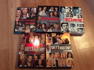 Grey's anatomy saisons 1,2,4,5- 30$ pour le lot
