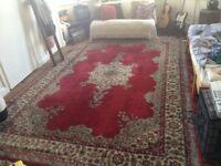 Beautiful Very Large 1960's Wool Turkish Rug Hand Made