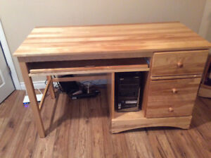 Desk with 3 drawers - Solid Pine