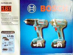 *NEW* Bosch 18-Volt 1/2-Inch Compact Drill-Impact Driver