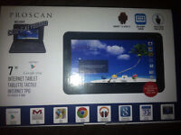 """Pro scan 7"""" tablet with keyboard"""
