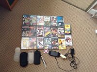 Sony PSP with 20 games and accessories