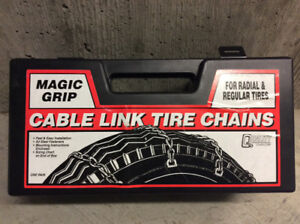 Winter travelling? NEW cable chains for radial and regular tires